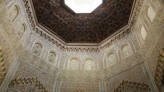 Aspecto de la madraza, fundada en 1333 por Yusuf I, tras ser restaurada. Acoge los servicios de Extensión Universitaria de Granada.