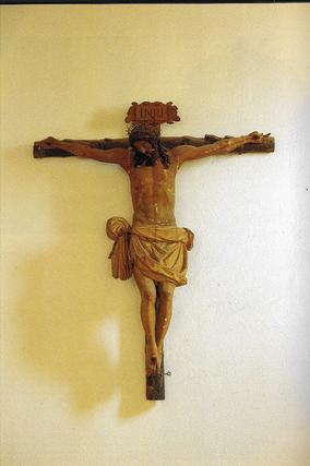 """Crucificado expuesto en el Rectorado de Granada, atribuido a Alonso de mena  Foto: """"Patrimonio Artístico y monumental de las universidades andaluzas"""""""