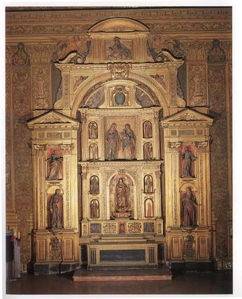 """Retablo de la Inmaculada Cocepción, de la iglesia de La Anunciación.  Foto: """"Patrimonio Artístico y monumental de las universidades andaluzas"""""""
