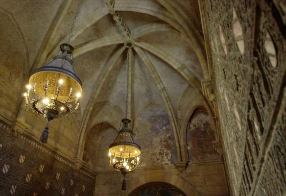 """Interior de la capilla de San Bartolomé.  Foto: """"Patrimonio Artístico y monumental de las universidades andaluzas"""""""