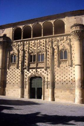 Fachada del palacio de Jabalquinto (Baeza, Jaén), edificio del siglo XV y sede Antonio Machado de la Universidad Internacional de Andalucía (UNIA).