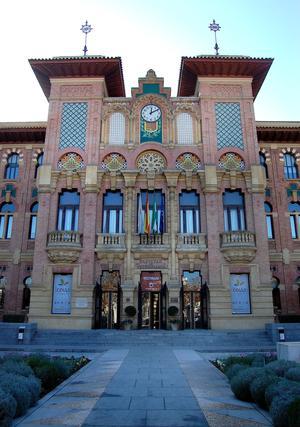 Fachada principal del Rectorado de la Universidad de Córdoba.  Foto: JOSÉ MARTÍNEZ