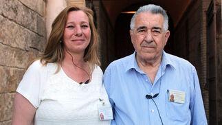 Cristina Díaz Talaverón y Rafael Díaz Palacios, jefes de Seguridad de la Maestranza.  Foto: Victoria Ramírez