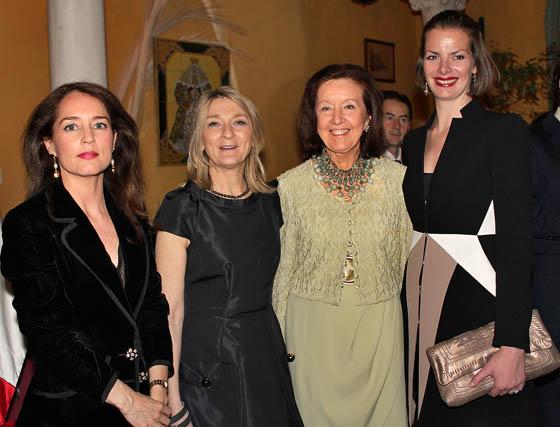 Inmaculada del Valle de la Torre, María Cristina Finucci, Clelia Muchetti y Julia Oetker.  Foto: Victoria Ramírez