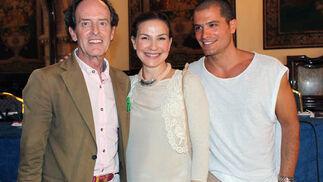 Carlos Telmo, Manuel Fernández del Toro y el portugués José Cabral.  Foto: Victoria Ramírez