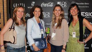 Pilar Mena (Euromedia), Arancha Piqueras (Eventia), Ana Millán (Coca-Cola) y y la bloguera Mónica Niño.  Foto: Victoria Ramírez