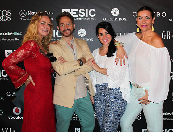 Los diseñadores Aurora Gaviño y Juan Vara, la bloguera Elena Rivero y Marisa Bancalero (Bambla).  Foto: Victoria Ramírez