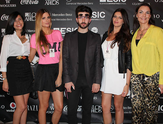 La bloguera Chus Suárez, Dulce Marín, Raúl Rodríguez (Universidad de Sevilla), Macarena Martín y María José Flores, directora de 'Woguers'.  Foto: Victoria Ramírez