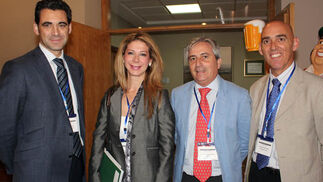 José Castro (Fundación Persán), Ángeles Marquez (Fundación Clínica Rocío Vázquez), Javier Fernández-Montes (Fundación Icada) y Alberto Flaño (Fundación Avanza).  Foto: Victoria Ramírez