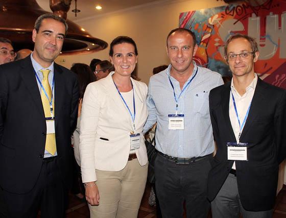 José María Gala (Fundación Antonio Gala), Elvira Saint-Gerons (Fundación Tres Culturas) y Rafael Carmona y David Camps, de la Fundación Vicente Ferrer.  Foto: Victoria Ramírez