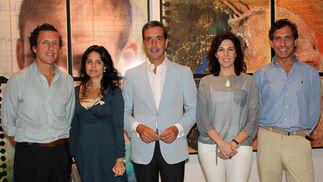 Luis García de Tejada, director de la Fundación Valentín de Madariaga; Reyes Conradi, Romualdo Madariaga, María Ángeles Maisanaba, vicepresidenta de Autismo Sevilla, y el arquitecto José Miguel Trigo.  Foto: Victoria Ramírez