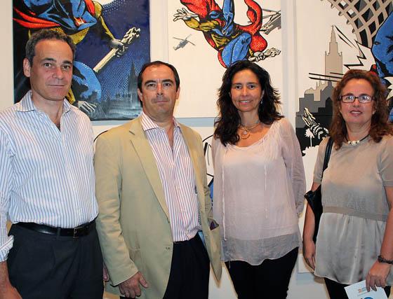 Iván Lora (Sabadell Urquijo Banca Privada), Javier de Solís (Real Maestranza de Sevilla), Pachi Madariaga y Rocío Rebollo (Autismo Sevilla).   Foto: Victoria Ramírez