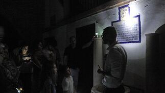 Visita nocturna guiada por el Hospital de la Caridad.  Foto: Belén Vargas