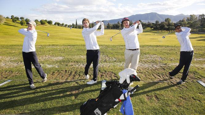 Jugadores profesionales de golf de la Universidad de Málaga.