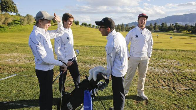Parte del equipo de golf de alto rendimiento de la Universidad de Málaga.