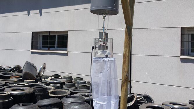 Trampas de captura de adultos,; trampas de luz tipo CDC cebadas con CO2