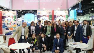 La delegación andaluza, en Nafsa 2017